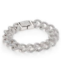 Adriana Orsini - Pavé Curb Chain Bracelet - Lyst