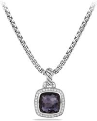David Yurman - Albion Pendant With Black Diamonds, 14mm - Lyst