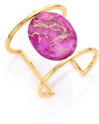 Nest | Purple Jasper Cabochan Cuff Bracelet | Lyst