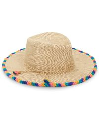 Eric Javits - Frida Pompom Trim Woven Hat - Lyst