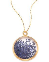 Aurelie Bidermann - Blue Sapphire & 18k Yellow Gold Medallion - Lyst