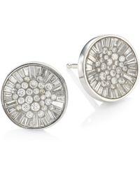 Plevé - Ice Opus Diamond Stud Earrings - Lyst
