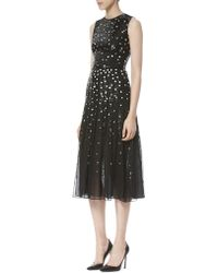Carolina Herrera - Sequined Chiffon Dress - Lyst
