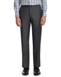 Corneliani - Wool Linen Pintuck Trousers - Lyst