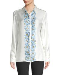 ESCADA - Nestilaras Silk Floral Blouse - Lyst