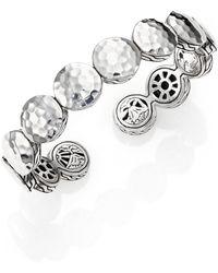 John Hardy - Palu Sterling Silver Disc Flex Cuff Bracelet - Lyst
