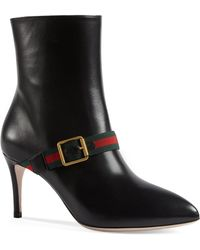 Gucci - Sylvie Leather Ankle Boot - Lyst