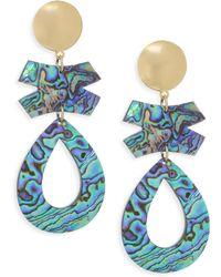 Nest - Abalone Clip-on Earrings - Lyst