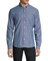 2bb97b489fb Maison Labiche Claudine Snakes Collar Shirt In Cool Blue in Blue for ...
