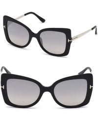 Tom Ford - Gianna 54mm Tinted Cat Eye Sunglasses - Lyst