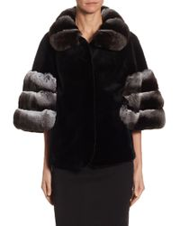 Saks Fifth Avenue - Mink & Chinchilla Fur Jacket - Lyst