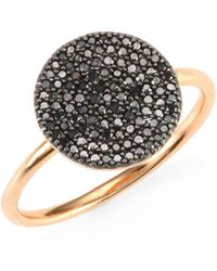 Astley Clarke - The Icon Black Diamond & 14k Yellow Gold Ring - Lyst