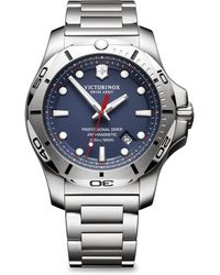 Victorinox - Inox Pro Diver Blue Dial Stainless Steel Bracelet Watch - Lyst