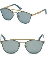Web - 59 Mm Round Sunglasses - Lyst