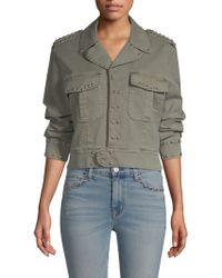 Hudson Jeans - Long Sleeve Military Jacket - Lyst