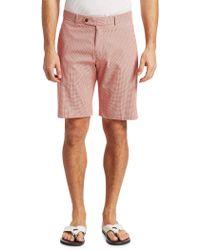 Saks Fifth Avenue - Collection Gingham Seersucker Shorts - Lyst