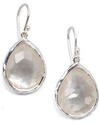 Ippolita - Wonderland Mother-of-pearl, Clear Quartz & Sterling Silver Mini Doublet Teardrop Earrings - Lyst