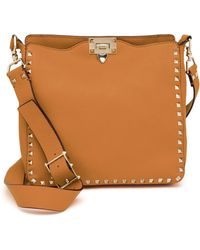 Valentino - Rockstud Utilitarian Small Leather Cross-Body Bag - Lyst