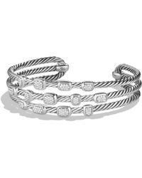 David Yurman - Confetti Narrow Cuff Bracelet With Black Onyx, Black Diamonds And Gold - Lyst