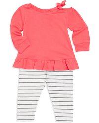 Splendid - Baby Girl's Two Piece Drop Shoulder Top & Leggings Set - Lyst