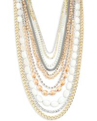 ABS By Allen Schwartz | Multi-row Two-tone Necklace | Lyst