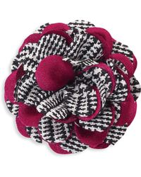 Hook + Albert - Houndstooth Lapel Flower - Lyst