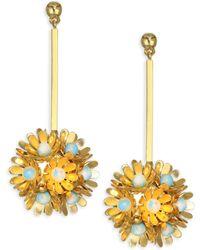 Lele Sadoughi - Rio Plumeria Drop Earrings - Lyst