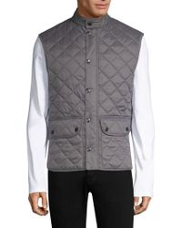 Barbour - Lowerdale Quilted Fleece Vest - Lyst