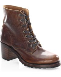 Frye | Sabrina Leather Booties | Lyst