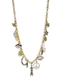 Sydney Evan - Multicolor Diamond Mini Charm Necklace - Lyst