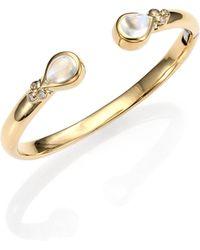 Temple St. Clair - Bella Royal Blue Moonstone, Diamond & 18k Yellow Gold Bracelet - Lyst