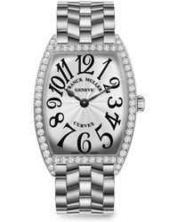 Franck Muller - Cintree Curvex 43mm Stainless Steel & Diamond Bracelet Watch - Lyst