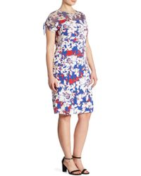 Stizzoli - Plus Floral Print Sheath Dress - Lyst