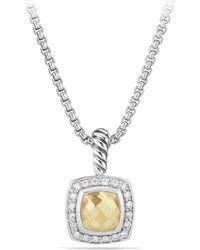 David Yurman - Petite Albion Green Onyx & Diamond Pendant Necklace - Lyst
