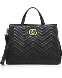 Gucci - Gg 2.0 Marmont Matelassé Leather Top-handle Tote - Lyst