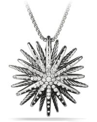 David Yurman - Starburst Large Pendant With Diamonds On Chain - Lyst