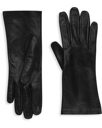 Saks Fifth Avenue | Silk-lined Leather Gloves | Lyst
