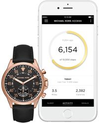 Michael Kors - Gage Leather Strap Hybrid Smartwatch - Lyst