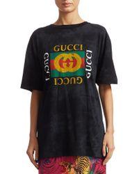 Gucci - Studded Logo Tee - Lyst