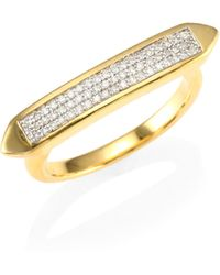 Monica Vinader - Baja Diamond Skinny Ring - Lyst