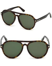 a26b26b605d5 Tom Ford Snowdon Rectangular 52mm Acetate Sunglasses in Brown for ...