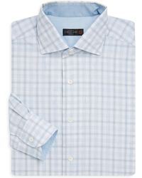 Corneliani - Regular-fit Gingham Cotton Dress Shirt - Lyst