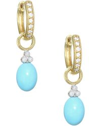 Jude Frances - Provence 18k Yellow Gold & Diamond Champagne Briolette Earring Charms - Lyst