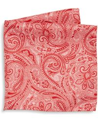 Saks Fifth Avenue   Collection Paisley Print Silk Pocket Square   Lyst
