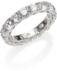 Adriana Orsini | Sterling Silver Eternity Band Ring | Lyst