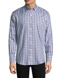 Peter Millar - Chequered Button-down Shirt - Lyst