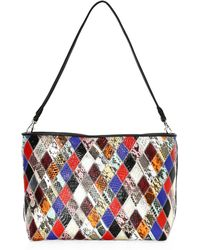 Elizabeth and James - Pouch Patchwork Snake Embossed Leather Convertible Bag - Lyst