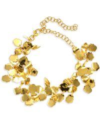 Lele Sadoughi - Rio Golden Lily Statement Necklace - Lyst