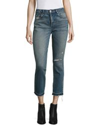 AMO - Babe Distressed Straight-leg Jeans - Lyst