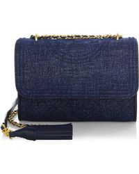 Tory Burch - Fleming Convertible Leather Shoulder Bag - Lyst